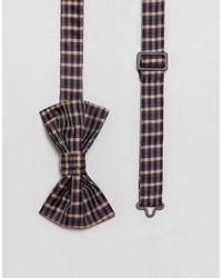 ASOS - Multicolor Checked Bow Tie for Men - Lyst