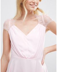 ASOS - Pink Kate Lace Mini Dress - Lyst