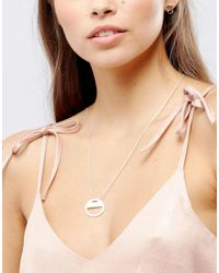 Pilgrim - Metallic Silver Plated Eclipse Necklace - Lyst