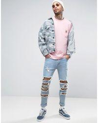 Carhartt WIP - Pink Pocket Long Sleeve T-shirt for Men - Lyst