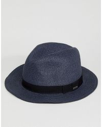 Barts - Blue Aveloz Summer Trilby Hat for Men - Lyst