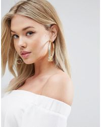 ASOS - Metallic Statement Swirl Earrings - Lyst