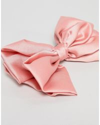 ASOS - Pink Bow Barrette Hair Clip - Lyst