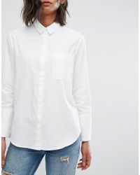 Mango | White Sheer Blouse | Lyst