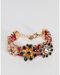ALDO - Multicolor Jewel Cluster Bracelet - Lyst