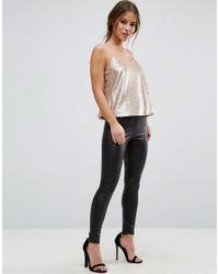 ASOS - Metallic Sequin Cami Top - Lyst