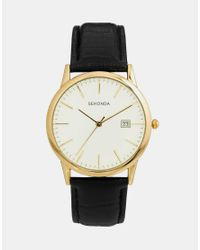 Sekonda - Brown Watch With Leather Strap 3697 - Lyst