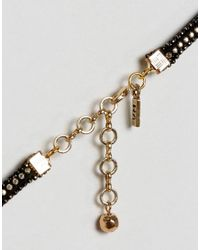 Vanessa Mooney - Black Choker With Gold Plating - Lyst