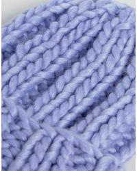 ASOS - Purple Extra Chunky Beanie - Lyst
