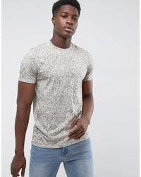 Weekday - Natural Bob Paint T-shirt for Men - Lyst