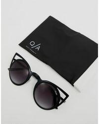 Quay - Black Invader Cat Eye Sunglasses - Lyst