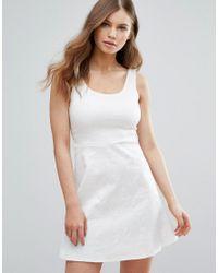 Rage - White Madam Skater Dress - Lyst