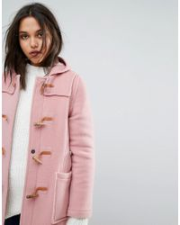 Gloverall - Pink Slim Fit Mid Length Duffle Coat - Lyst