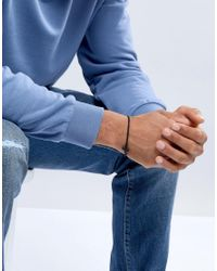 Icon Brand - Chain Bracelet In Matte Black With Cross for Men - Lyst