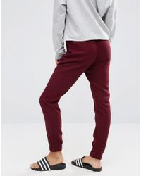 ASOS | Red Woven Casual Trousers With Zip Pockets | Lyst