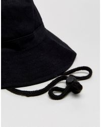 ASOS - Fisherman Bucket Hat In Black for Men - Lyst