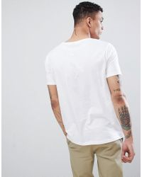 ASOS - White Design T-shirt Print With Dice Chest Print for Men - Lyst