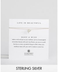 Dogeared - Metallic Sterling Silver Life Is Beautiful Sweet Hummingbird Make A Wish Necklace - Lyst