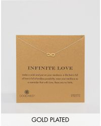 Dogeared | Metallic Gold Plated Infinity Love Reminder Necklace | Lyst