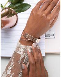 ALDO - Metallic Rose Gold Cuff Bracelet - Lyst