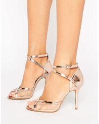 Dune | Metallic By Dune Meryl Rose Gold Heeled Sandals | Lyst