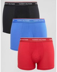 Tommy Hilfiger | Multicolor Trunks In 3 Pack Multi for Men | Lyst