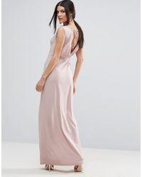 ASOS | Multicolor Crepe V Back Cowl Front Maxi Dress | Lyst