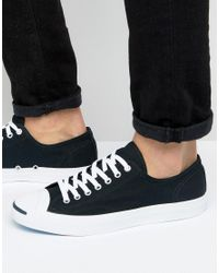 Converse | Jack Purcell Ox Plimsolls In Black 1q699 for Men | Lyst