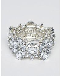 True Decadence - Metallic True Decadance Silver Embellished Rhinestone Bracelet - Lyst