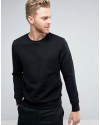 Jack & Jones | Black Premium Quilted Sweatshirt for Men | Lyst