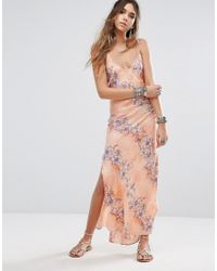 Free People | Multicolor Cassie Girl Slip Maxi Dress | Lyst