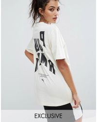 PUMA | White Exclusive To Asos Statement Oversized Short Sleeve T-shirt | Lyst