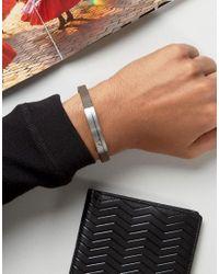 Emporio Armani - Black Logo Leather Bracelet In Brown for Men - Lyst