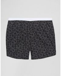 ASOS - Black Plus Jersey Boxers With Monochrome Star Print 3 Pack for Men - Lyst