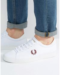 Fred Perry   White Spencer Canvas Sneakers for Men   Lyst