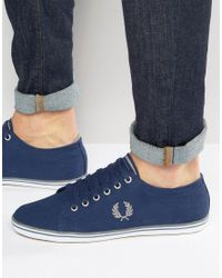 Fred Perry | Blue Kingston Twill Trainers for Men | Lyst