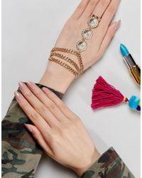 ASOS | Metallic Metal Flower Festival Hand Harness | Lyst