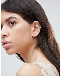 Orelia - Metallic Crystal Ear Cuff With Stud - Lyst