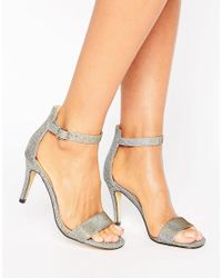 Oasis | Metallic Barely There Sandals | Lyst