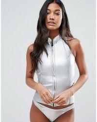 Billabong | Metallic Sleeveless Neoprene Wetsuit | Lyst