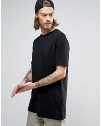 ASOS - Black Super Longline T-shirt With Geo- Back Print for Men - Lyst