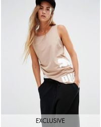 PUMA | Natural Exclusive To Asos Muscle Tank In Camel | Lyst