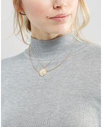 Monki - Metallic Sovereign Layered Necklace - Lyst
