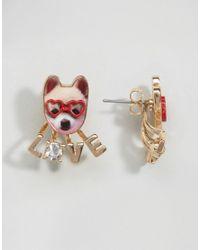 Monki - Multicolor Dog Love Stud Earrings - Lyst