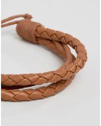 Jack & Jones - Brown Jacpeter Wrap Bracelet In Tan for Men - Lyst