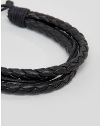 Jack & Jones - Jacpeter Wrap Bracelet In Black for Men - Lyst