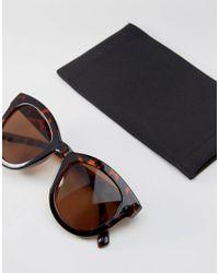 Pieces - Metallic Tortoiseshell Sunglasses - Lyst
