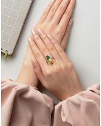 ASOS - Metallic Pineapple Ring - Lyst