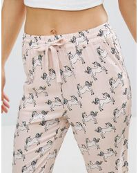 Undiz   Pink Laotiz Unicorn Pyjama Bottoms   Lyst