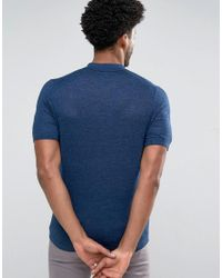 Reiss - Blue Knitted Polo for Men - Lyst
